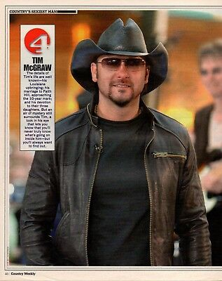Tim McGraw 1 Page Magazine Picture Clipping
