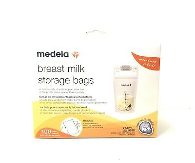 Medela Breast Milk Storage Bags 6 oz 100 ct with Bonus Transport Pouch