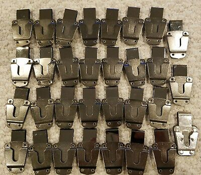 LOT 31 SWIVEL BELT CLIP / D CLIP Metal Finish Case Holster Security Safety RADIO
