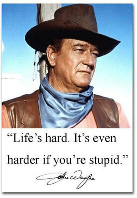 "John Wayne Funny Stupid Quote Fridge Toolbox Magnet Size 2.5"" x 3.5"""
