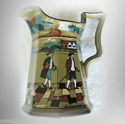 Buffalo Pottery - Deldare pitcher - with town scenes FREE SHIPPING