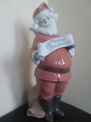 "Retired Lladro NAO ""Santa's Best Wishes"" #1399 christmas holiday claus figurine"