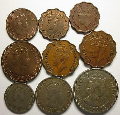 No reserve! British Cyprus coin lot, Piastre and Mils, 1940's to 1950's