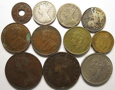 No reserve! British Hong Kong lot, Victoria and George VI coins 1860's to 1940's