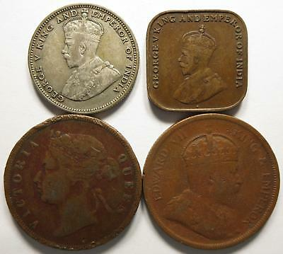 No reserve! British Straits Settlements lot, George V silver coin + more!