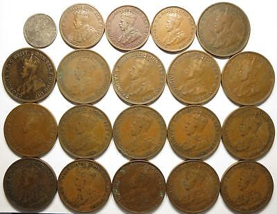 No reserve! George V Australia Penny lot, many dates, 1910's to 1930's