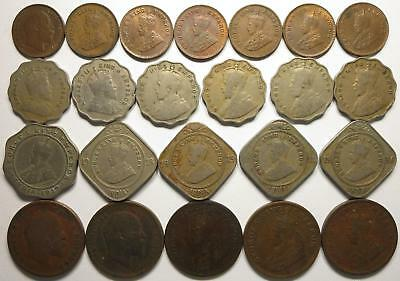 No reserve! British India Edward VII and George V coin lot, 1900's to 1930's