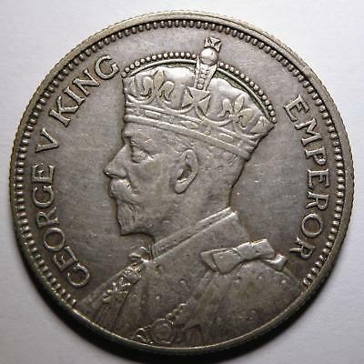 No reserve! New Zealand George V Silver One Shilling coin, 1934