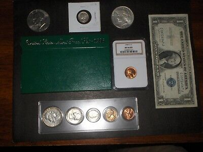 Coin Lot(Dime, Silver Certificate Dollar, Peace Dollar,Proof, other)