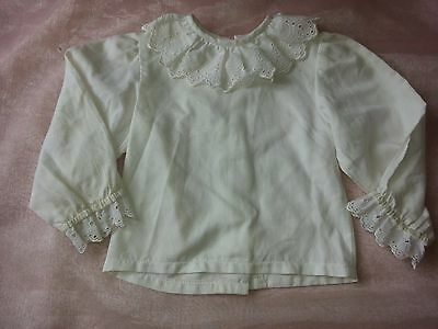 Size 2 Girls Vintage White Long Sleeve Elizabeth Anne Top