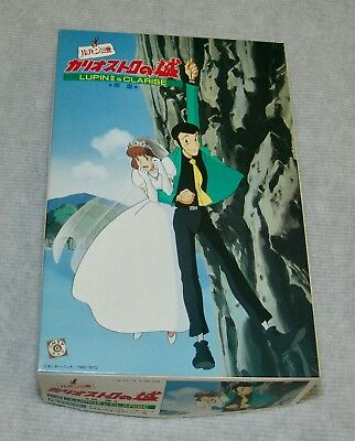 """LUPIN 3RD Castle of Cogliostro """"Cliff"""" Lupin and Clarise Gunze Sangyo USA SELLER"""