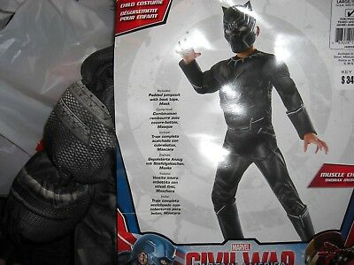 NEW MARVEL Black Panther Costume YOUTH AVENGERS COSTUME SMALL 4-6 x
