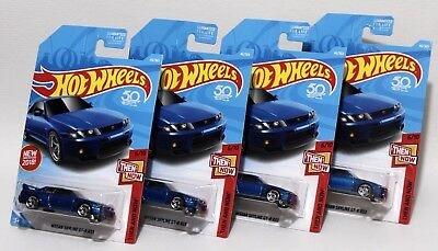 Nissan Skyline Gt-R R33 * Lot Of 4 * 2018 Hot Wheels * Blue First Edition 1993