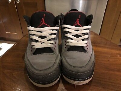 sports shoes ac224 29e72 2011 Air Jordan III 3 Stealth Varsity Red Light Graphite Black Size 9.5