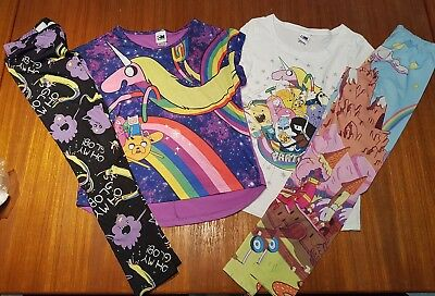 Girls ADVENTURE TIME leggings/pants & T-shirt size 10-12 clothes