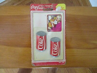 Vintage Set of 2  Coca Cola Brand Can Shape Magnet Sealed  in Package