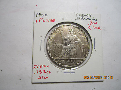 1900-A French Indo China Silver Piastre