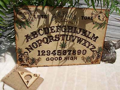 Ganja Ouija Board Handmade - Witches Hotline