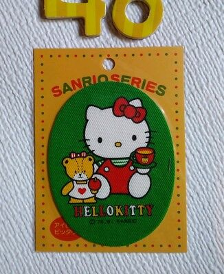 Vintage hello kitty iron on patches, 1991, made in Japan, kawaii, sanrio