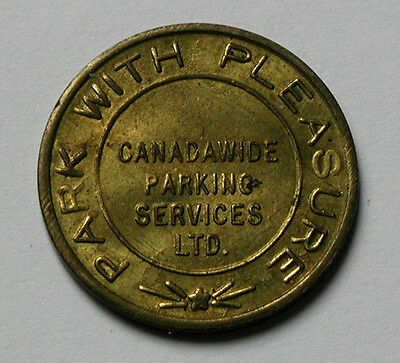 CANADA Brass Coin - Parking Token - canadawide parking services ltd - 25mm