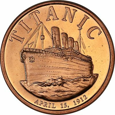 1 oz Copper Round - Titanic
