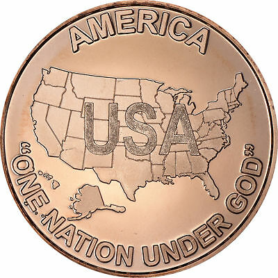 "1 oz Copper Round - USA ""One Nation"""