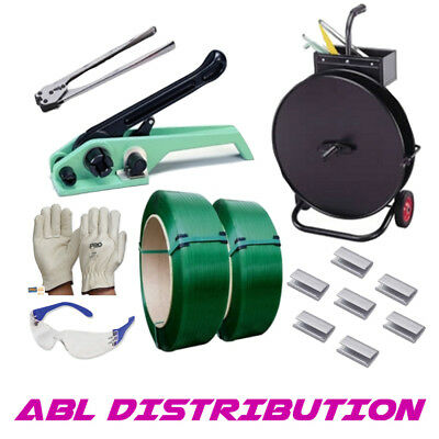 12mm PET Polyester Strapping Kit W/ Strapping/Seals/Tensioner/Sealer & Dispenser