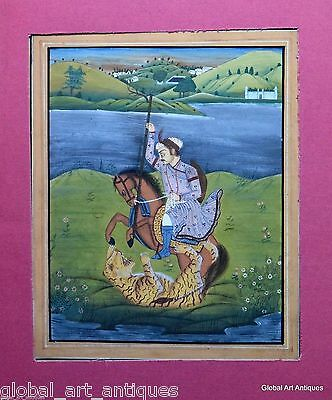 Rare Hand Painted Fine Decorative Collectible Indian Miniature Painting. G77-3