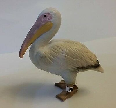 RARE Retired Schleich 14142 White Pelican PVC animal figure with TAG