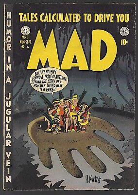 MAD #6 EC COMICS 1953 TERRY & THE PIRATES by WOOD MELVIN OF THE APES by SEVERIN