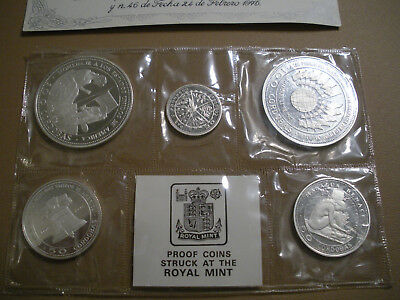 1975 Nicaragua Silver Proof Coin Set Struck at Royal Mint