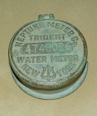 VINTAGE Neptune Meter Co WATER Meter TRIDENT New York 4748026 4363 Steampunk