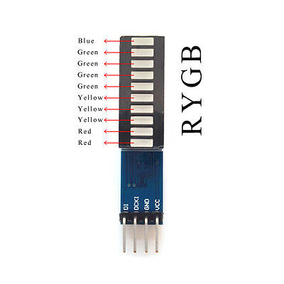 LED Module 10 Segment Strip Digital Tube Light Emitting Module For Arduino