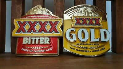 XXXX Gold and XXXX Bitter Beer Tap Badges (FULL METAL)