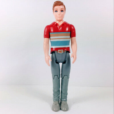 5 Inches Tall Fisher Price Loving Family Dollhouse DAD FATHER MAN Red Shirt Toys