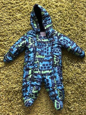 3-6 months Blue Zoo Debenhams boys waterproof snowsuit/pramsuit