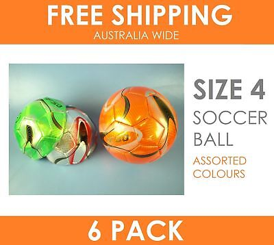 6 x Soccer Ball Size 4 in Assorted Metallic Colours - Extreme Value Pack