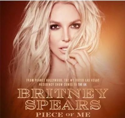 Britney Spears STANDING TICKET DUBLIN 20TH AUGUST 2018