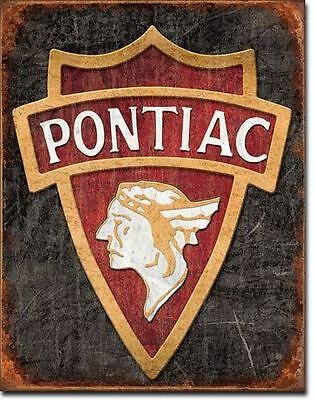 Pontiac Indian Head Tin Sign New Shed Garage Hotrod Rustic Chev