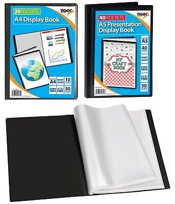 New A4 A5 Presentation Display Book Portfolio Folder With Front Pocket