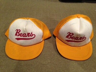 2 multiple player signed Brisbane Bears Caps from 1992