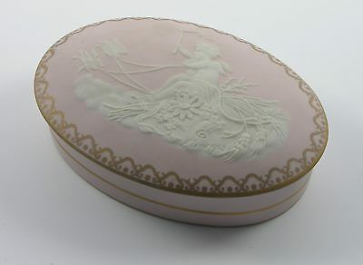 Deckeldose oval  Pate sur Pate Limoges Tharaud Putto Schmetterlinge Frankreich