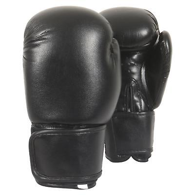 Thai Boxing Gloves Sparring Punch Bag MMA Training Mitts 16oz Black Martial Arts