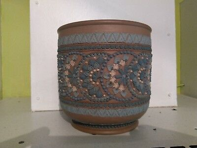 Very Rare Doulton silicon lambeth Planter/ jardiniere from 1881 marked with bb