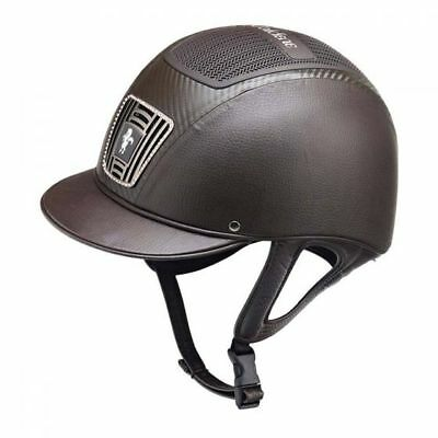 New Brown Caldene Ultra Plus Riding Hat 7 1/4 (59Cm)Lightweight Jumping Helmet
