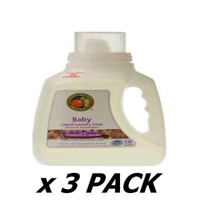 Ecos Baby Laundry Liquid Chamomile & Lavender - 50 Washes 1.5Ltr (3 Pack)