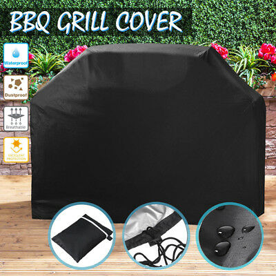 Large BBQ Grill Cover Heavy Duty Waterproof Rain Snow Outdoor Barbeque Protector