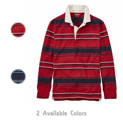 7aed439b0 Timberland Men s Harrington River Mixed Media Long Sleeve Rugby Polo Shirt  A1PR7
