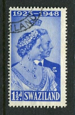Swaziland: 1948 Royal Silver Wedding 1½d Stamp SG46 Fine Used AW310