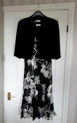 condici dress & jacket  size14 with fascinator, mother of bride, wedding guest